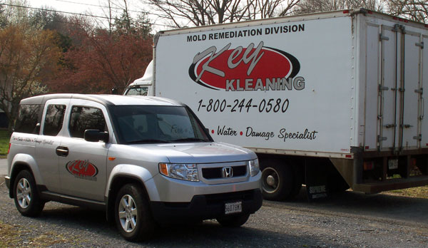 Key Kleaning service vehicles